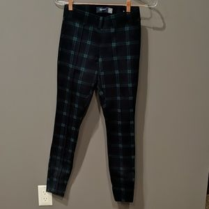Old Navy Blue & Green Plaid pants